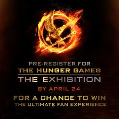 Time is running out! Pre-register for #HungerGamesExhibition NOW for a chance to win the ultimate fan experience at the grand opening in NYC! - http://hungrgam.es/THGExhibition