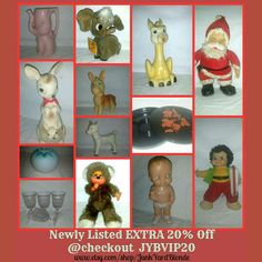 Newly listed items..end of the year sale 20 % off plus Extra 20% off at Checkout with Code  JYBVIP20 if you spend $25 or more.