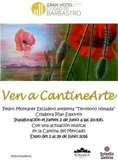 """Cartel exposición Pedro Montaner """"Territorio nómada"""""""