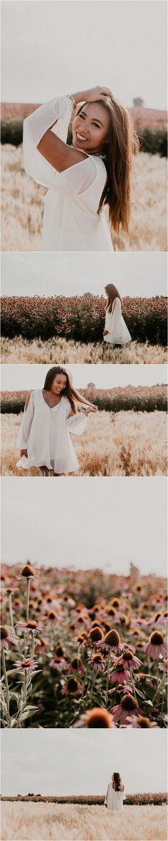 Makayla Madden Photography // Boise Senior Photographer // Wildflower field // Sunflower field senior picture // locations // Senior pictures // summer senior picture ideas and inspiration // Senior photographer // floral dress // boho // Fall senior session // Senior picture fall outfit ideas and inspiration // Senior posing ideas and inspiration // Laughter // Senior girl // Urban Outfitters // Free people // Hair and makeup inspiration // White Dress //