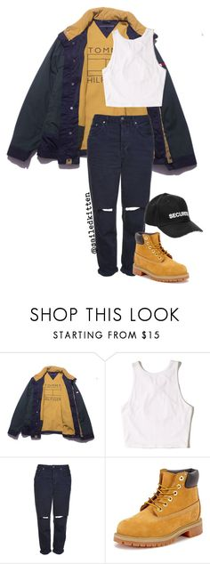 """""""HOOD RAT"""" by sailedkitten ❤ liked on Polyvore featuring Hollister Co., Topshop, Timberland and Vetements"""