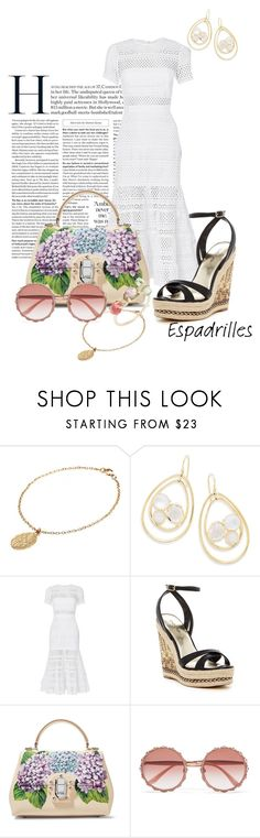 """""""Step into Summer: Esparilles"""" by sunset0215 ❤ liked on Polyvore featuring CINDERELA B, Ippolita, self-portrait, Bebe, Dolce&Gabbana and Jacquie Aiche"""
