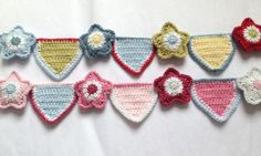 crochet bunting star pattern, FREE and stunning; Love this soooo much, yay xox