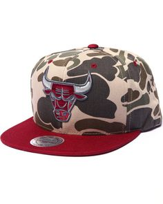 c36c080625f The Chicago Bulls Camo Edition Custom Snapback Hat Cool Hats