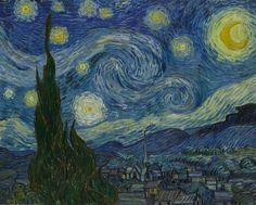 The starry night c.1889 by:Vincent Van gogh