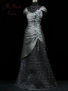 VICTORIAN/Edwardian 8/10 Silver Theme Dress/Downton Abbey/TITANIC/MASQUERADE