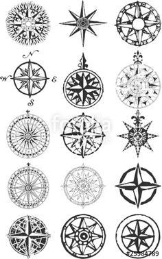 """Laden Sie den lizenzfreien Vektor """"Wind roses - nautical compass vector grunge collection"""" von PrintingSociety zum günstigen Preis auf Fotolia.com herunter. Stöbern Sie in unserer Bilddatenbank und finden Sie schnell das perfekte Stockbild für Ihr Marketing-Projekt!"""