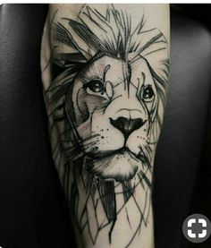 Tattoo Lion: Symbolism and attractive designs of the lion tattoo for both sexes – Tattoo Designs Wolf Tattoos, Animal Tattoos, Body Art Tattoos, Sleeve Tattoos, Tatoos, Tattoo Arm, Tattoo Finger, Tattoos Of Lions, Bicep Tattoos