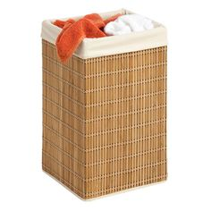 Purchase a bamboo hamper instead of a plastic laundry basket for your dirty clothes!
