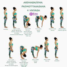 @elena_miss_yoga Episode 4️⃣2️⃣ #ashtangavinyasawithelena #nadishodhana #secondseries #ardhabaddhapadmottanasana . With @re3life #re3 #re3life @yoga.tutorials . Ardha Baddha Padmottanasana #halfboundlotusstandingforwardbend 9 Vinyasas Dristi: Padagre (tip of the big toe) . 1️⃣Ekam 1: Inhale, take the right leg into half lotus, bind the right hand behind the back, and catch the right big toe . 2️⃣Dve 2: Exhale, forward fold, left hand next to the left foot. Breath five times . 3️⃣T...
