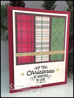 MAKE IT IN MINUTES - Create 12 Christmas Cards in a matter of minutes! Check it out at www.SimplySimpleStamping.com - look for the November 17, 2016 blog post