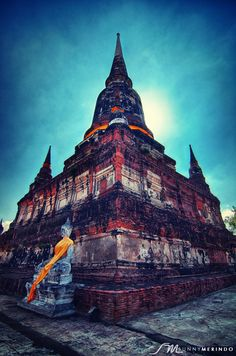 Wat Yai Chaya Mongkol, Ayutthaya, Thailand Travel Around The World, Around The Worlds, Ayutthaya Thailand, Southeast Asia, Travel Photos, Scenery, Places, Dream Trips, Monuments
