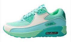 Womens Fashion Air Cushion Sneakers Colorful Sport Running Shoes 75 Green ** Visit the image link more details.