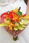 also cute tropical wedding bouquet