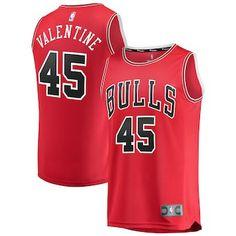 cfe17419e Denzel Valentine Chicago Bulls Fanatics Branded Fast Break Replica Jersey  Red - Icon Edition Denzel Valentine