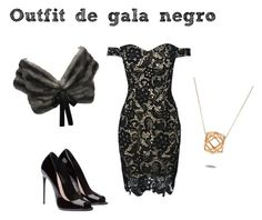 """""""Outfit de gala negro"""" by turbopeka on Polyvore featuring moda, Prada y WithChic"""