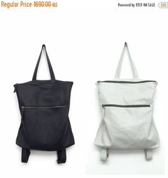 Black leather backpackBlack shoulder bagBig black leather