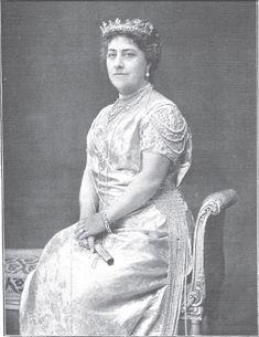 La duquesa de Talavera vestida de gala con motivo de su nombramiento como infanta