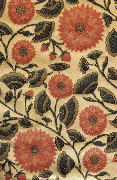Indian flower toile