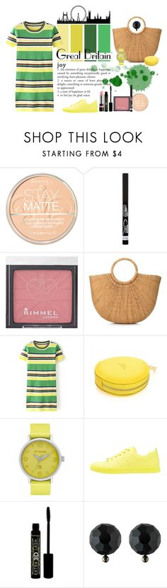 """""""London Calling"""" by heather-peace ❤ liked on Polyvore featuring Rimmel, Columbia, ALDO and Ralph Lauren"""