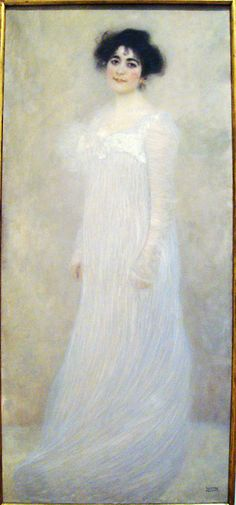 Gustav Klimt Austrian, 1862-1918 Oil on canvas Signed (lower right) GVS.TAV/KLIMT  Klimt painted this portrait of Serena Pulitzer Lederer (1867-1943), the wife of Viennese industrialist August Lederer in 1899, tow years after founding the Vienna Secession to reform art in the Austrian capital and raise it to reform art in the Austrian capital and raise it to a level of international importance. The painting was shown in the Tenth Secession Exhibition in 1901. Klimt also painted the coupl...