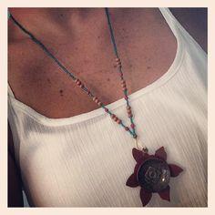 Susan Lenart Kazmer Art inspired seamless necklace now available in the shop!  www.etsy.com/shop/sendingoutlove