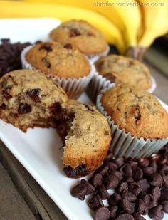 BEST ever Banana Chocolate Chip Muffins - family recipe! #banana #recipe #muffins