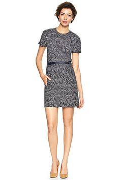 30 On-Sale Pieces To Jump-Start Your Ho-Hum Work Look #refinery29  http://www.refinery29.com/affordable-work-clothes#slide15  Gap Printed Zip-Back Dress, $48.99 (originally $69.95), available at Gap.