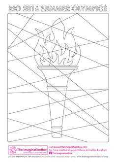 Rio Olympic Games 2016 kids creative art and craft projects, worksheets and printables, featuring olympic rings, olympic torch, Christ the Redeemer statue Olympic Idea, Rio Olympic Games, Olympic Flame, School Age Activities, Art Activities, Creative Arts And Crafts, Arts And Crafts Projects, Olympic Ring Colors, Theme Sport