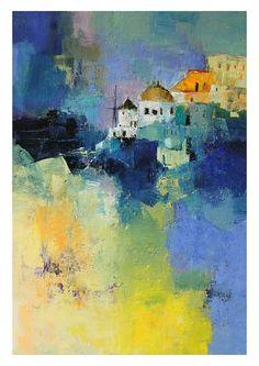 Oia Santorini Greece 5/50 Limited Edition by hiroshimatsumoto, $18.00