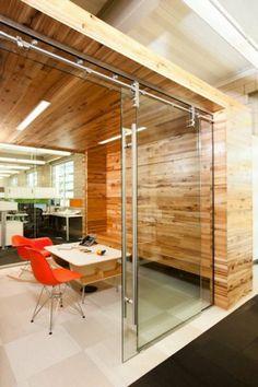 Office glass door modern interior chic elegant