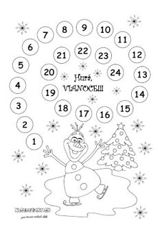 Počítanie dní do Vianoc pre nedočkavé deti - Aktivity pre deti, pracovné listy, online testy a iné Advent Calenders, Printable Crafts, Coloring Sheets, All Things Christmas, December, Diagram, Ideas, Preschool Christmas, Blue Prints