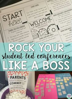"""I was intrigued by the fact that this is about """"student"""" lead conferences. I think it could be a great strategy when embarking on parent teacher conferences in just a few weeks. Teacher Organization, Teacher Hacks, Teacher Stuff, Organizing, Student Led Conferences, Education Conferences, 4th Grade Classroom, Classroom Ideas, Future Classroom"""