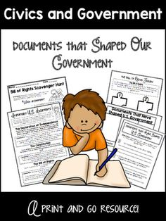 This complete lesson is designed to teach students about the documents which have helped shape the United States government (The Declaration of Independence, The Constitution, The Bill of Rights.) This lesson comes complete with the following:- Bulletin Board Postings (Key Learning, Unit Essential Question, Lesson Essential Question, Vocabulary Cards)- Complete multi-day lesson (2-3 days)- Supplemental Information Worksheets (can be used in unison with or supplement a traditional textbook)…