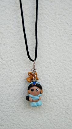 Jasmin Disney Princess Aladin Chibi Polymer Clay by GabiAndAsia, $11.00