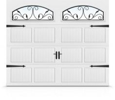 Magnetic hardware for drab garage door