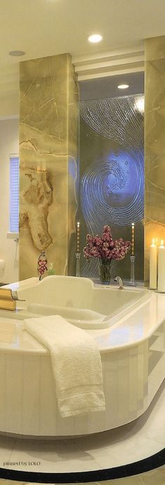 Beautiful! Could accomplish a similar look with more privacy using etched #glassblock for a mural