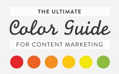 Color theory and color psychology in marketing are something content marketers must understand. Color can hurt or hinder content marketing efforts.