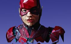 Download wallpapers Flash, abstract art, superheroes, Justice League, The Flash