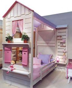 kız çocuk odası yaratıcı yatak fikirleri 2015