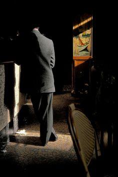 """Harry Gruyaert - Café """"La Palette"""" at Saint-Germain des Près, Paris, France, 1985"""
