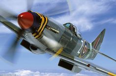 Iconic: Legendary fighter planes captured like never before. This image shows Mk XVIII Spitfire TP280