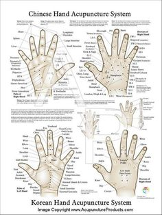 Acupressure Therapy Chinese Hand Acupuncture and Korean Hand Acupuncture Acupuncture Points Chart, Point Acupuncture, Acupuncture Benefits, Acupuncture For Weight Loss, Acupressure Points, Acupressure Therapy, Acupuncture Fertility, Meridian Acupuncture, Acupressure Massage