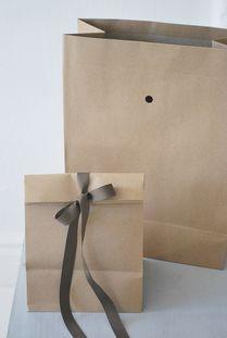 packaging, food gift, brown paper bag, ribbon, bow