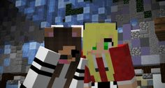 ☺ Here's a Minecraft selfie of me and one of my fans, gloomgames1!! If you happen to see her be sure to say hai because she's such a kind person! ^~^ ☺