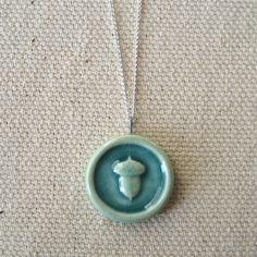 buried treasure necklace, aqua ... porcelain jewelry by Sofia Masri. $29.00, via Etsy.