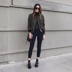 """Brittany Xavier on Instagram: """"Olive green bomber for dinner and hanging w/ the fam """""""