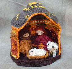 Kerst kerststal haken patroon van MamasCrochetPatterns op Etsy