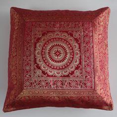 Kussenovertrek mandala in roze-rood