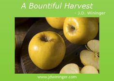 A Bountiful Harvest - J.D. Wininger, Christian Author Apple My, Apple Tree, Opal Apples, Only God Knows Why, Inspirational Blogs, Bountiful Harvest, Good Bones, Baked Apples, Fertility
